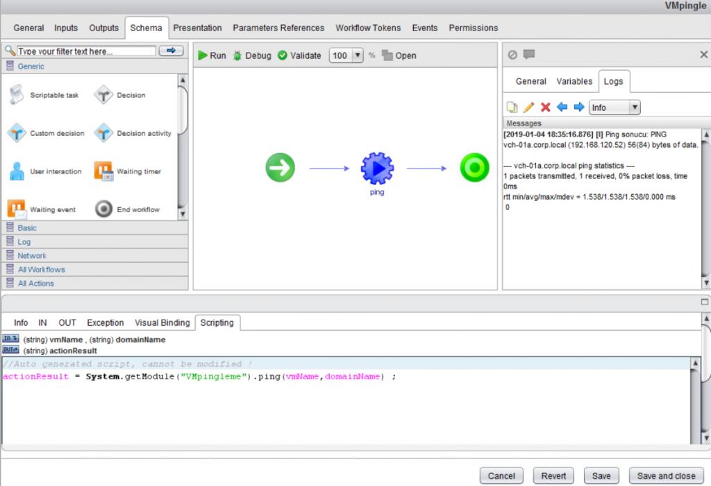 vRO-Ping-Workflow-Sonuc