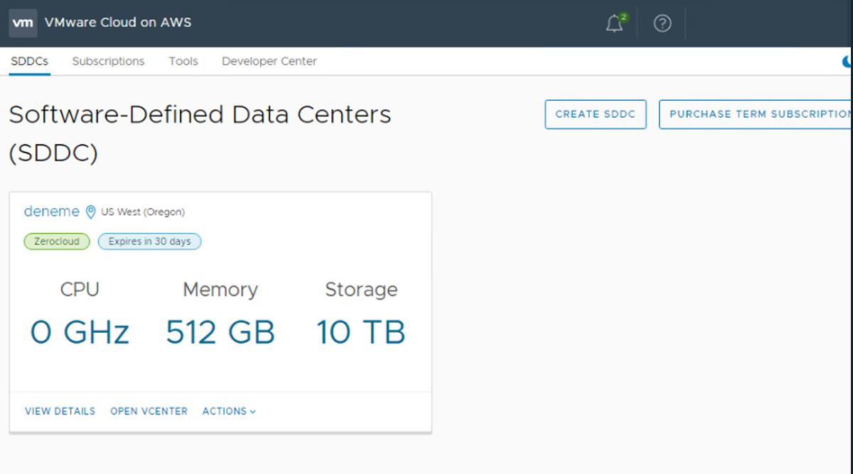 VMware-Cloud-on-AWS-SDDC
