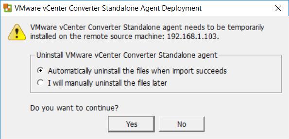 VMware vCenter Converter Standalone Agent