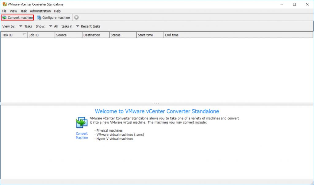 VMware vCenter Converter - Convert Machine