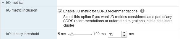 I/O Metrics